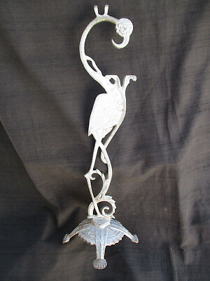 Unusual Cast Aluminum Flamingo Sculpture Cast From Vintage Smoking Stand