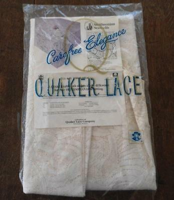 "NIP Vintage Quaker Lace Tablecloth Smithsonian Seashells 70"" Round"