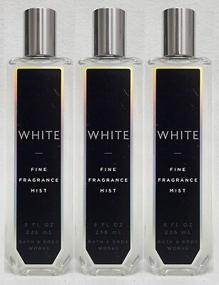 3 Bath & Body Works WHITE Fine Fragrance Mist Body Spray