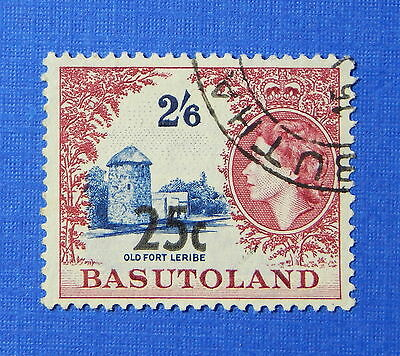 1961 BASUTOLAND 25c SCOTT# 69b S.G.# 66b USED                            CS20251