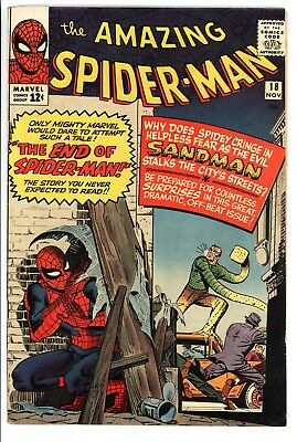 Amazing Spider-Man #18 Vol 1 Near Perfect High Grade 1st Appearance of Ned Leeds