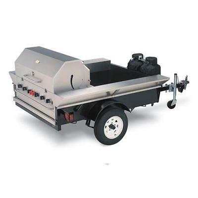 "Crown Verity TG-2 48"" Towable BBQ Grill Tailgate or Concession Trailer"