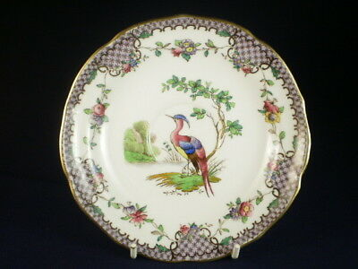 SPODE COPELANDS CHINA LEDOUX BIRD & FLOWERS SAUCER c. 1917+