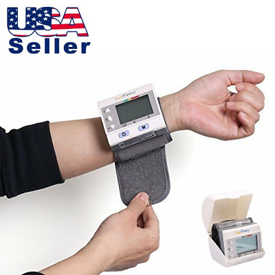 Automatic Wrist High Blood Pressure Monitor BP Cuff Machine Heart Rate Gauge Kit