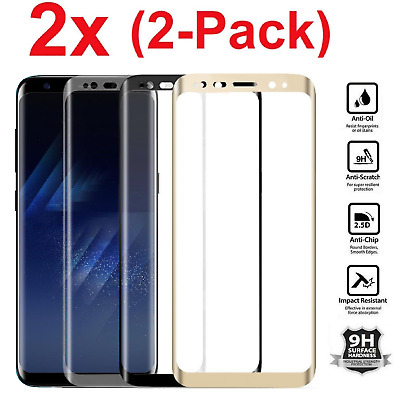 2x Samsung Galaxy S8 PLUS /Note 8 Screen Protector Tempered Glass Curved Glass r
