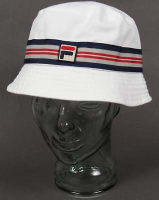d4b1125d844 FILA VINTAGE CASPER Bucket Hat in White - retro classic