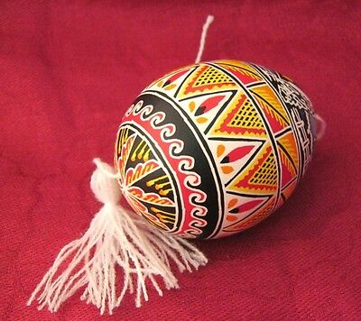 Real Easter EGG Pisanki Pysanky Hand painted Ukrainian chicken eggs