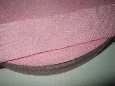 38mm BABY PINK, Acrylic Herringbone Tape for Edging or Ties,1,2,10,50 metres