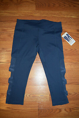 18c4600b57f537 NWT Womens Active Life Iron Blue Exercise Active Capris Size L Large $79