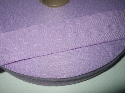 38mm LILAC, Acrylic Herringbone Tape for Edging or Ties,1,2,10,50 metres