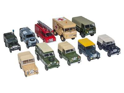 Oxford Models Die-cast 1:76 OO Scale Military Land Rover Collection Set - DA1526