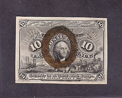 US 10c Fractional Currency 2nd Issue FR 1245 Ch CU