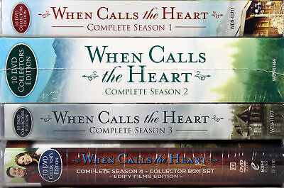 When Calls The Heart Series Complete Seasons 1-4 Collection DVD Set