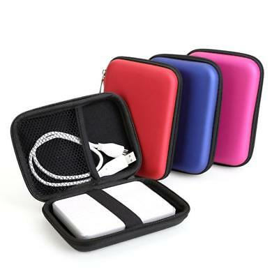 "Portable 2.5"" External Storage USB Hard Drive Disk HDD Cable  Carry Case Cover"