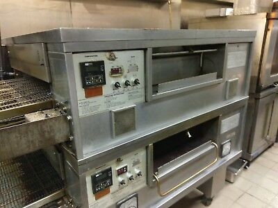 "Middleby Marshall Ps555 Nat Gas Fired Conveyor Pizza Ovens 32"" Wide Belt 90""wide"