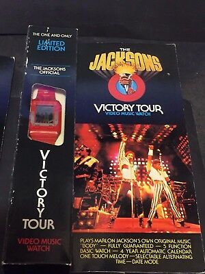 MICHAEL JACKSON 1984 Vintage WATCH Official VICTORY TOUR New In Box Package Wear