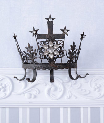 Madonna Crown Royal Crown Wall Coat Rack Metal Crown Hook Rail Antique