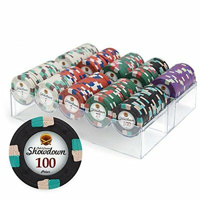 200ct. Showdown 13.5g Poker Chip Set in Acrylic Case with Lid
