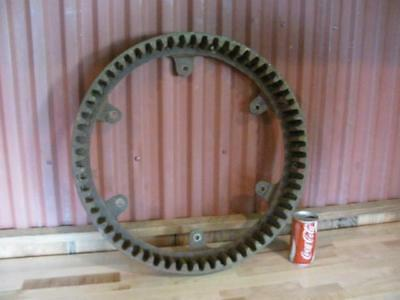 "Large Antique Cast Iron Industrial Art SteamPunk Iron Age 22"" Corn Binder Gear"
