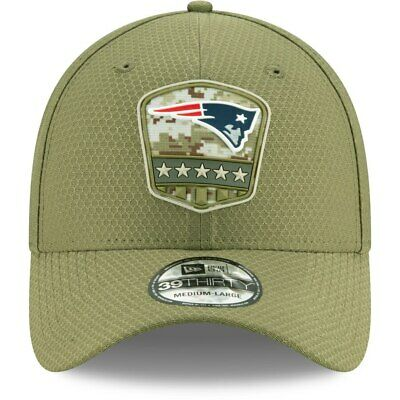 New England Patriots New Era 3930 Salute To Service Army Military Flex-Fit Hat