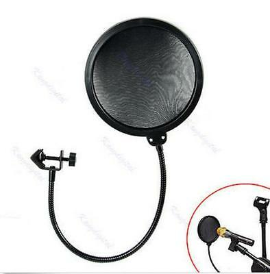 Recording Studio Microphone Mic Wind Shield Screen Filter Mask Double Layer