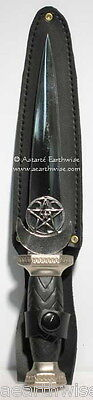 ATHAME - HECATE'S ATHAME BLACK HANDLED  Wicca Pagan Witch Goth  Ritual Spell