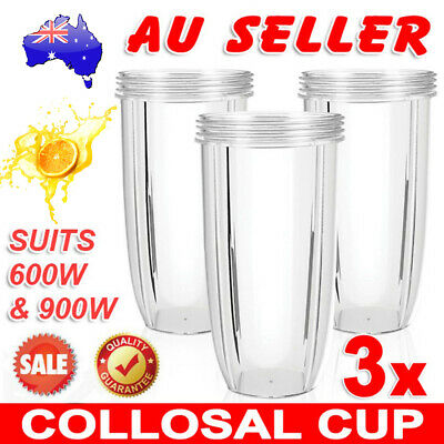 3X NUTRIBULLET COLOSSAL BIG LARGE TALL CUP 32 Oz - Nutri Bullet 600 & 900 Models