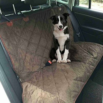 Comz Heavy Duty NonSlip Waterproof Dog or Pet Car Back Rear Seat Cover - Brown