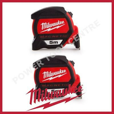 2x Milwaukee 4932459373 5m Magnetic Tape Measure with Finger Stop HP5MG/27