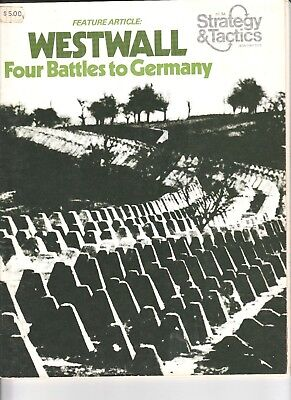 Strategy and Tactics magazine, # 54 Jan 1976 Westwall. / Dixie Map.