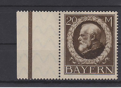 German States Bayern Bavaria Mi 109I ** MNH Ludwig 20 Mark Rand links