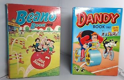 BEANO  =  THE BEANO BOOK 1987  & 1978 D. C. THOMSON & COMPANY LIMITED unclipped