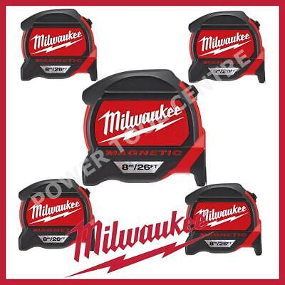 5x Milwaukee 4932464178 Pro Mag Tape 8m/26ft Tape Measure With Finger Stop