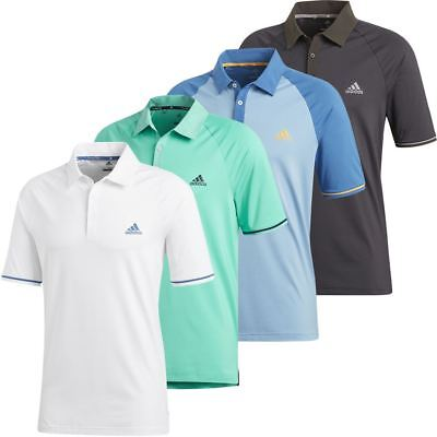 adidas GOLF 2018 CLIMACOOL ATHLETIC RAGLAN POLO MENS PERFORMANCE GOLF POLO SHIRT