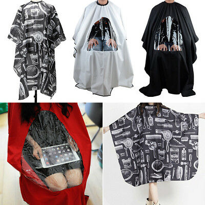 Large Salon Hair Cutting Cape Barber Hairdressing Haircut Apron Cloth w/ Window