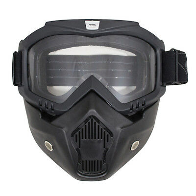 ARMR Moto Motorcycle Motorbike Scooter Urban Mask & Goggles For Open Face Helmet