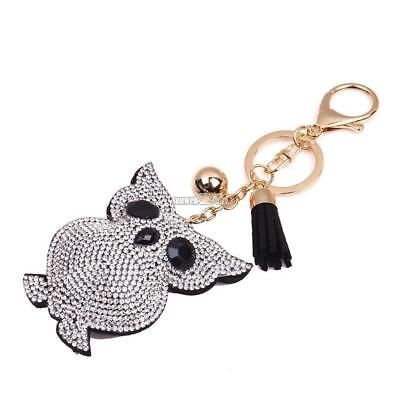 New Fashion Unisex Alloy Sweetheart Cute Animal Small Owl Shape Key Ring RR6