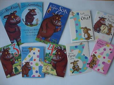 The Gruffalo Birthday Card Age 1 2 3 4 Son Brother Sister