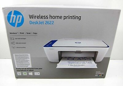 NEW HP Deskjet 2622 All In One Color Inkjet Printer Copier Scanner Wireless