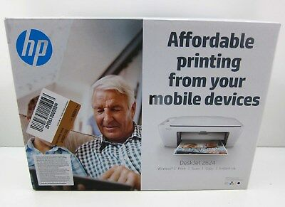 NEW HP Deskjet 2624 All In One Color Photo Inkjet Printer Copier Wireless