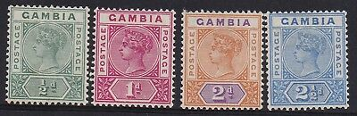 Gambia 1898 Qv Tablet 1/2D To 21/2D