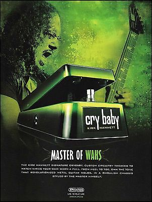 Metallica Kirk Hammett Signature Cry Baby Wah Pedal ad 8 x 11 advertisement