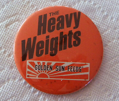 "Vintage Golden Sun Feeds ""Heavy Weights"" Livestock Cattle, Hog Feed Large Pin"