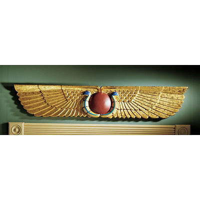 Ancient Egyptian Replica Temple Pediment Wall Sculpture Egypt Decor