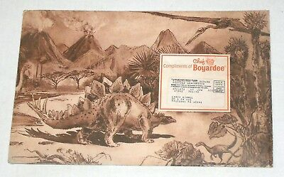 1980's Chef Boyardee Dinosaur Adventure Game Kit with Mailing Envelope