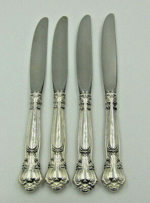"""Set of 4 Gorham 'Chantilly' Sterling Handle Place Dinner Knife - 9 1/4"""" -No Mono"""