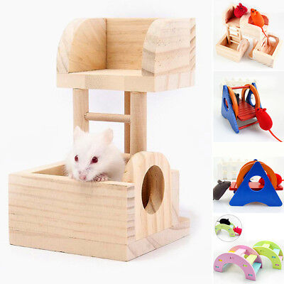 Rat Parrot Climbing Toys Wooden Ladder Hanging Seesaw Tower Lookout Hamster Pet