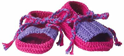 8b509ef2005 Hand Crocheted Socks Baby-Girls Infant Summer Sandal Bootie