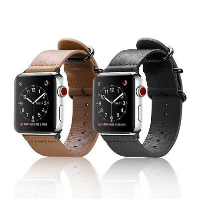 For iWatch Apple Watch Band Series 3 2 1 Genuine Leather Wrist Strap Replacement