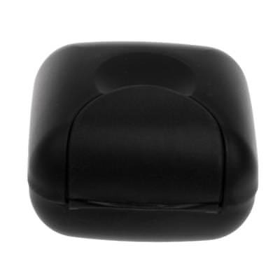 Soap Case For Body Facial Care Soap Home Travel Holder 70 x 70 x 45 mm Black